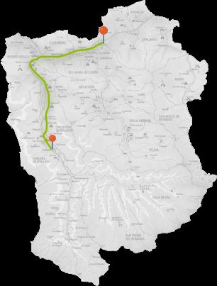 Mapa Vía Verde del Pas